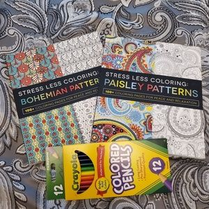 2 Stress Reducing Adult Coloring Books